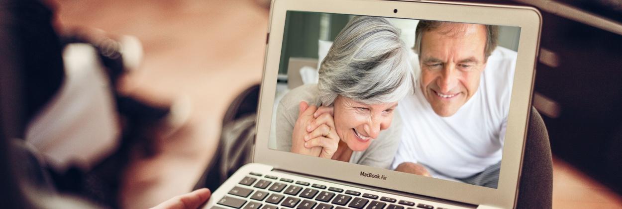 Video calling grandparents